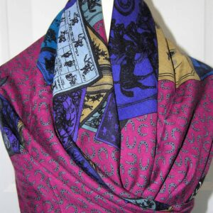 vintage Hermes scarf shawl stole