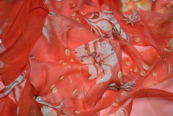 vintage Hermes mousseline shawl