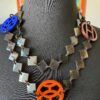 Enamel Lena Horn Hermes Long Necklace with Clasp
