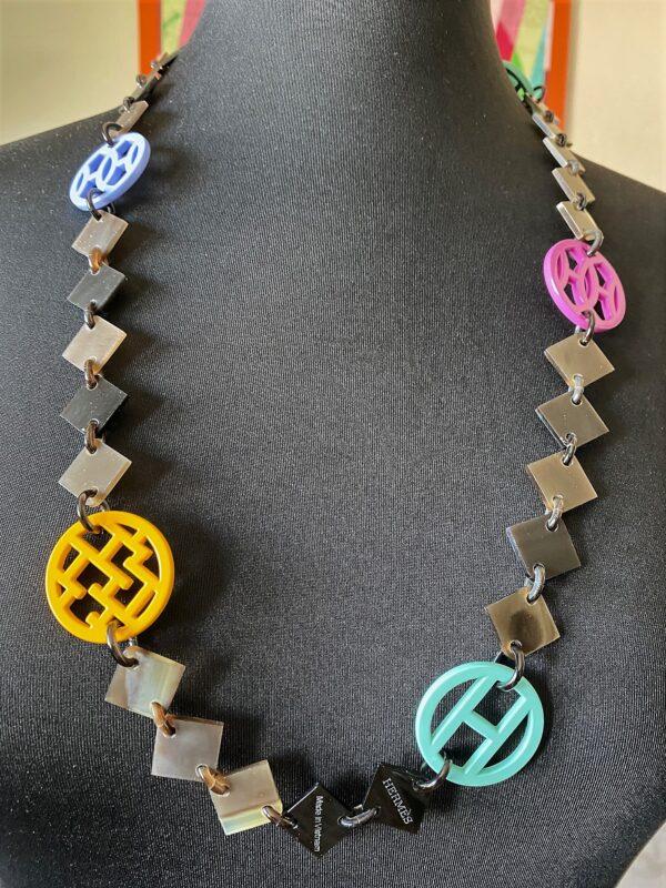 Enamel Lena Horn Hermes Necklace
