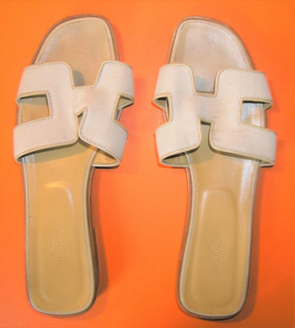 vintage Hermes Oran Sandals